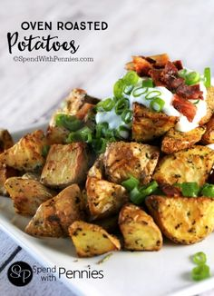 I've made these SO many times, simple Oven Roasted Potatoes make a perfect side dish for any meal!  These are so easy to make! from @spendpennies