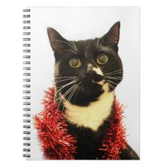 Christmas Cat Notebook - black gifts unique cool diy customize personalize