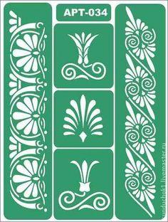 Трафарет 034 - зелёный,трафарет,трафареты,трафарет для декупажа,Декупаж