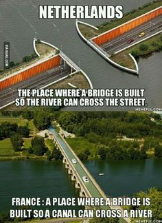 Because a river crossing a street is too mainstream... Hahah what the heck xp