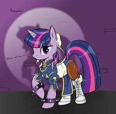 Twilight cosplaying as Chun-LI.