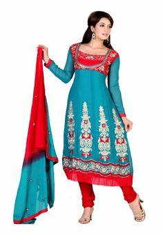 Indian Designer Wear Navy Blue & Red Faux Georgette Embroidery Salwar Kameez Fabdeal,http://www.amazon.com/dp/B00HYV95OU/ref=cm_sw_r_pi_dp_vH-wtb19PG87W93V