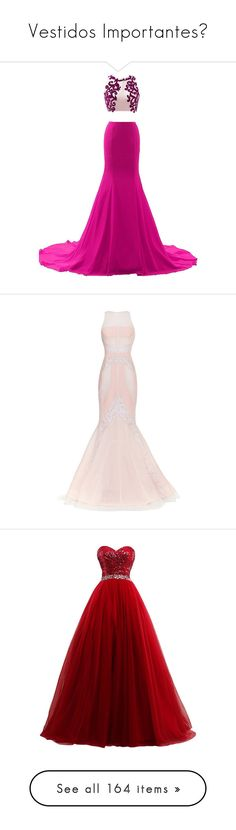 """Vestidos Importantes♥"" by infinito01 ❤ liked on Polyvore featuring dresses, gowns, vestidos, vestidos longo, sexy prom dresses, white ball gowns, white prom dresses, sexy white dresses, white party dresses and long dresses"