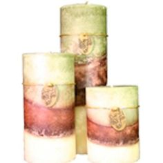 A Cheerful Giver Willow Round Fuze Pillar Candle, 4 by 6-Inch