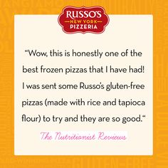 Thank you to Amanda from @The Nutritionists Review for the kind words! #RussosReview