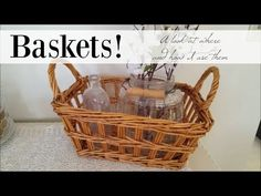 Baskets | A look at where and how I use them! - YouTube
