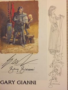The Knight of the Seven Kingdoms Sketchbook, remarqued & signed by Gary Gianni & GRRM