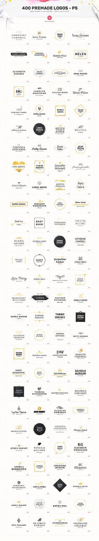 Elegant Logo Bundle - 400 Logos by AlienValley on @creativemarket