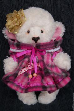 Купить мишка тедди Герда - белый, мишка тедди, мишка ручной работы, мишка в подарок
