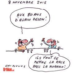 Morano, homosexualité, FN… Alain Delon, 80 ans, un habitué des controverses - Dessin du jour - Urtikan.net