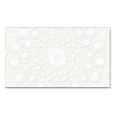 Elegant Faux Embossed White Background Business Card Template