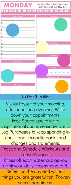 Printable Daily Planner Page  Daily Schedule, Daily Docket for Arc Planner or any Discbound Notebook