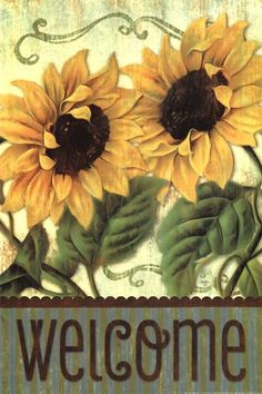 Sunflower Welcome Fine-Art Print by Mollie B. at UrbanLoftArt.com