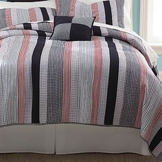 James Quilt Set - Red, Black & Gray