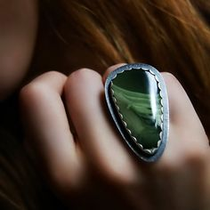 The Heart of the Forest - Imperial Jasper Sterling Silver Ring
