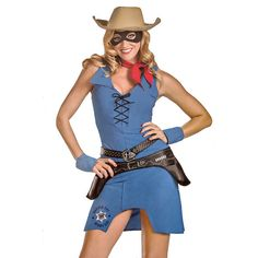 Officially Licensed Lone Ranger Sassy Minidress Halloween Costume at 68% Savings off Retail!
