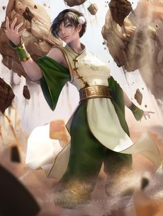 Toph Beifong by Zarory on DeviantArt Avatar Aang, Avatar Airbender, Team Avatar, Character Inspiration, Character Art, Avatar Fan Art, The Last Avatar, Digital Art Anime, The Last Airbender