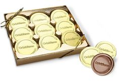 9-pc Presentation Chocolate Coin Box Chocolate Favors, Chocolate Coins, Personalized Chocolate, Chocolates, Presentation, Personalised Chocolate, Custom Chocolate, Schokolade, Chocolate