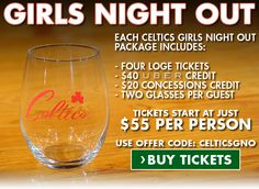 Look forward to a night of Celtics basketball with your closest friends. Learn more about out Girls Night Out Package today!