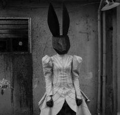 I love weird rabbit people Animal Masks, Animal Heads, Arte Horror, Horror Art, John Batho, Images Terrifiantes, Arte Peculiar, Creepy Images, Creepy Vintage