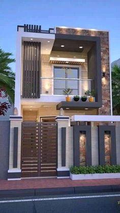 House Outer Design, Modern Small House Design, House Outside Design, House Front Design, Small House Exteriors, Modern Exterior House Designs, Latest House Designs, 3 Storey House Design, Bungalow House Design