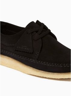 CLARKS Black Suede Weaver  Wallabee  Shoes 791bd91a478