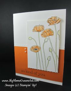 Pleasant Poppies Stampin Up