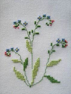 This Pin was discovered by Hül Small Cross Stitch, Cross Stitch Borders, Cross Stitch Flowers, Cross Stitching, Cross Stitch Embroidery, Embroidery Patterns, Hand Embroidery, Cross Stitch Numbers, Cross Stitch Cards