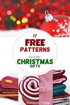 17 free patterns for diy Christmas gifts everybody will love! Easy and quick to make Christmas sewing projects from free beginner patterns. Easy, quick and free - grab the free sewing patterns now! Easy Sewing Projects, Sewing Projects For Beginners, Sewing Hacks, Sewing Tips, Sewing Tutorials, Sewing Ideas, Christmas Sewing Projects, Christmas Patterns, Sewing Crafts