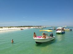 When you hear locals talking about going to The Point, they're referring to the tip of Cape San Blas. You can only get to The Point by hiking through St. Joseph Peninsula State Park or, the more popular method, by boat. Locals gather in the clear, smooth water or hunt for shells in the super soft sand.