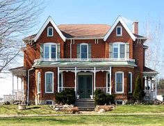 Farm house victorian, Waterdown, Ont., Canada. A treasure trove of homes like this are located throughout Ontario most are beautifully maintained and painted.