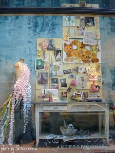"""Inspiration! Anthropologie ""craft room"" window display, New York"" #furniture #painting #craftroom #inspiration"