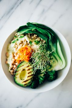 White Bean & Rice Bowl w/ Kimchi Hack | Parsley Vegan