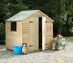 Garden Sheds 7x5 forest garden 7 x 5 pressure treated double door overlap apex shed
