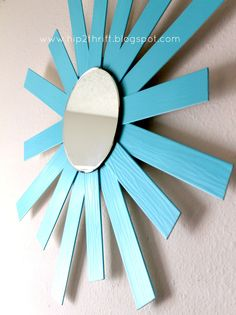 hip2thrift: How to turn Old Blinds into Sunburst Mirror
