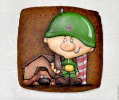 Купить Пряничные открытки С 23 февраля - Пряники имбирные, пряники на 23 февраля