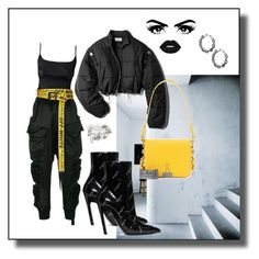 """Black & Yellow #11"" by ardeur ❤ liked on Polyvore featuring Unravel, Off-White, Balenciaga, 3.1 Phillip Lim and Alex and Ani"