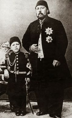 Khedive Ismail and his son Khedive Tawfiq. Very nice picture.