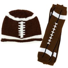 Boy Football Hat & Leg Warmer Set