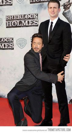 No idea what's happening here, but it'a awesome. I love Robert Downy Jr.