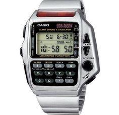 Casio calculator TV remote watch