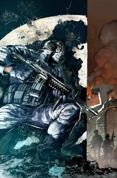 Simon Ghost Riley. Call of Duty: Modern Warfare 2. Drawn by the amazing Jim Lee