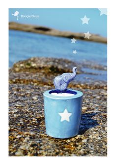 Bougie bleue Blue candle