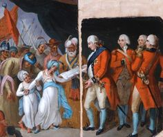 Lord Cornwallis Receiving the Sons of Tipu as Hostages Mather Brown The Bowes Museum Era Georgiana, Economics Poster, Dream Book, Portrait Sketches, Art Uk, British Library, Historical Society, Beautiful Paintings, Islamic Art