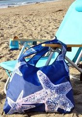beach grass — Starfish Roll-up Shopping Tote Bag by Env Bags