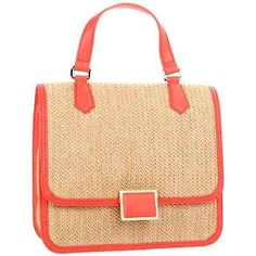 Marc by Marc Jacobs Solid Straw M3121131 Shoulder Bag,Fluoro Coral,One Size