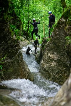 After 10 minutes of warm-up hiking, you will be desperately looking for water to jump into.😅 . This is the result: the adults are playing like kids when doing the most FUN activity in Slovenia - CANYONING🤗🤩 Abseiling, Julian Alps, Night Scenery, Lake Bled, Rappelling, Green River, Ice Climbing, Extreme Sports, Slovenia