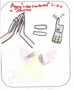 PRAYER IS POWER drawn by a child aged 12 or under as part of BrixKidz Picture Preachers competition www.brixkidz.org