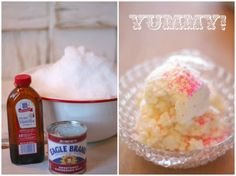 You can also use snow to make snow ice cream. | 37 Activities Under $10 That Will Keep Your Kids Busy On A Snow Day