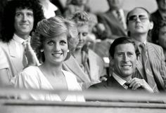 Princess Diana and Prince Charles attend Live Aid. 13th July, 1985.